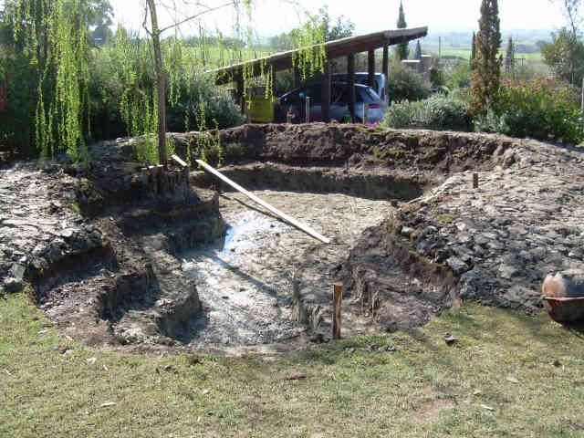 Realizzazione laghetto giardino cerveteri roma specchi d 39 acqua for Vasca pvc laghetto