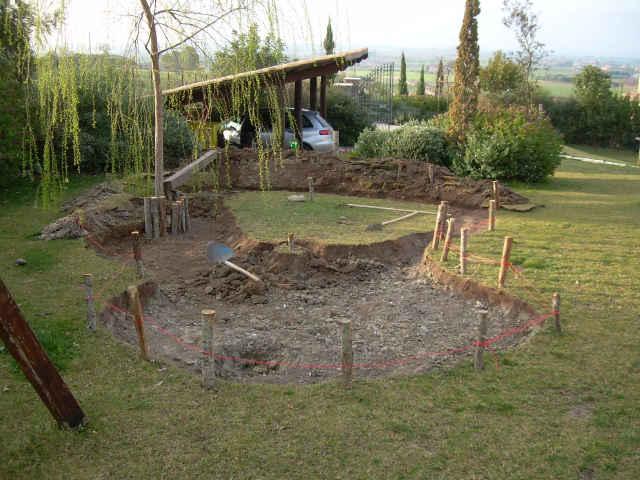 Realizzazione laghetto giardino cerveteri roma specchi d 39 acqua - Laghetto giardino ...