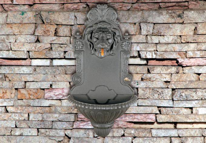 Fontane e fontanelle in ghisa da giardino terrazzi balconi - Fontane a muro da giardino ...