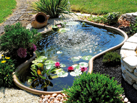 Laghetto giardino i laghetti della collezione perle d for Filtro x laghetto