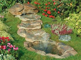 Laghetti ornamentali giardino accesori giochi d 39 acqua for Cascate e laghetti da giardino