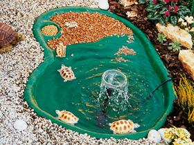 Laghetti tartarughe realizzati in materiale antisdrucciolo for Filtro acqua tartarughe