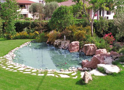 Teli giardini d 39 acqua telo laghetti ornamentali laghetto for Acqua verde laghetto