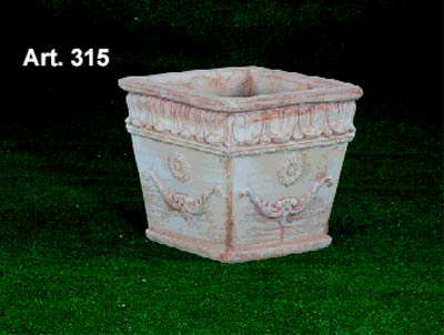 Galestro vasami tasca da muro citola terracotta lavorata a for Anfore terracotta da giardino